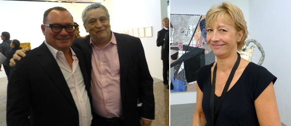 Left: Dealer Paul Kasmin with curator Norman Rosenthal. Right: Dealer Pippy Houldsworth.