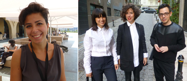 Left: ArtInternational Alternatives curator Özge Ersoy. Right: Artists Meriç Algün Ringborg, Ceren Taşkent and Erdem Taşdelen.
