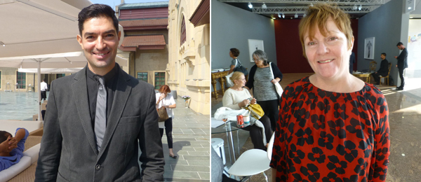 Left: ArtInternational architect Erhan Patat. Right: Dealer Finola Jones.