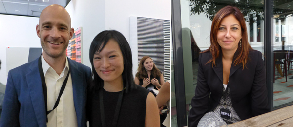 Left: Dealers Edouard Malingue and Lorraine Kiang Malingue. Right: SALT's Derya Ergüç.