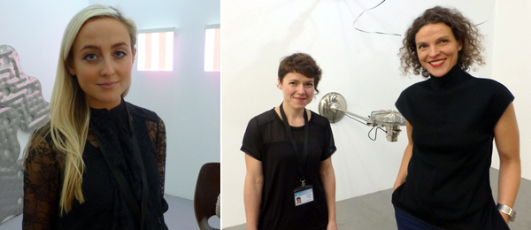 Left: Dealer Ellie Harrison Reed. Right: Dealers Elena Grudzinskaitė and Laura Rutkutė.