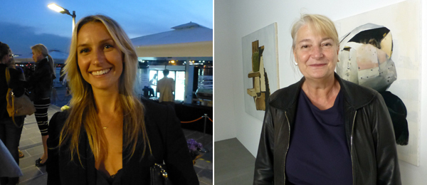 Left: Artsy's Lara Björk. Right: Dealer Leylâ Akinci.