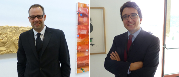Left: Dealer Frej Forsblom. Right: Dealer François Dournes.