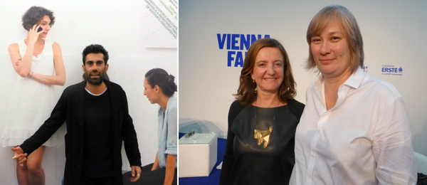 "Left: ""Curated by"" curator Luca Lo Pinto. Right: ""Curated by"" curator Beatriz Colomina and artist Dorit Margreiter."