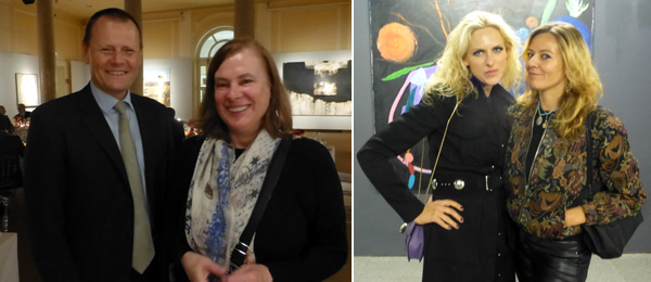 Left: Dorotheum's Martin Böhm and dealer Gabriele Senn at a dinner at Dorotheum. Right: Perpetual Experts' Vita Zaman with artist Béatrice Dreux.