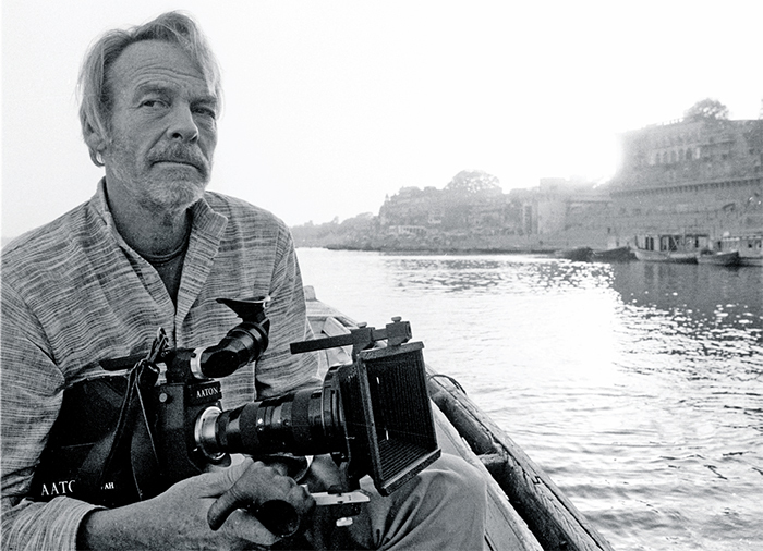 Robert Gardner, Benares, India, 1984. Photo: Jane Tuckerman.