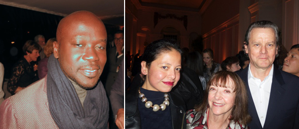 Left: Architect David Adjaye. Right: Pompidou Center adjunct curator Sylvia Chivaratanond with Jeanette Wall and artist Jeff Wall.