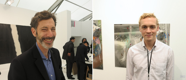 Left: Hayward Gallery director Ralph Rugoff. Right: Dealer Peter Currie.