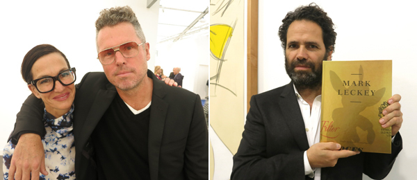 Left: Fashion designer Cynthia Rowley and dealer Bill Powers. Right: Dealer Gavin Brown.