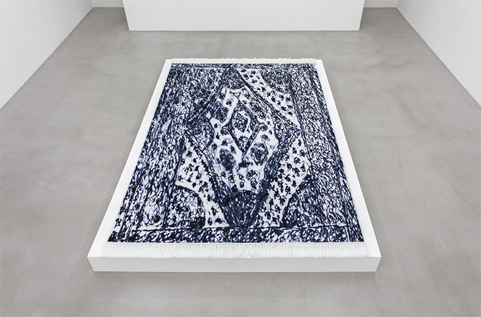 "Sirous Namazi, Carpet, 2014, printed Saxony carpet, 8 1/4"" × 7' 2 1/2"" × 10' 6""."