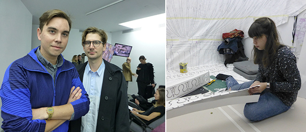 Left: FGAP shortlisted artists James Bridle and Jon Rafman. Right: FGAP shortlisted artist Pilar Quinteros.