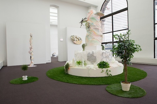 "View of ""Sabina Ott: here and there pink melon joy,"" 2014–15."