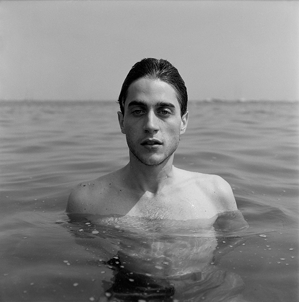 David Amstrong, George in the water, Provincetown, 1977.