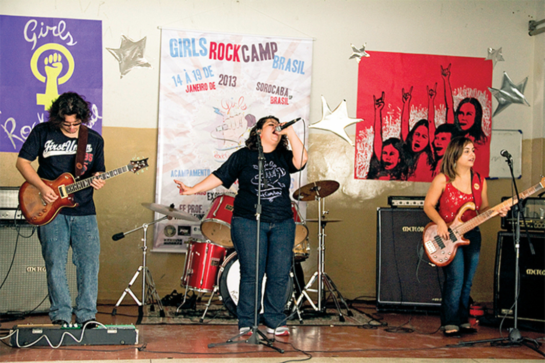 Girls Rock Camp, São Paulo, Brazil, January 14, 2013. Photo: Donna Kether/Flickr.