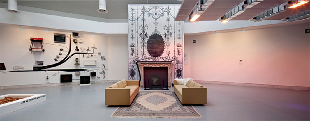 "View of ""Elements of Architecture,"" 2014, Central Pavilion, Venice. Fireplace display. From the 14th Venice Architecture Biennale. Photo: Francesco Galli."