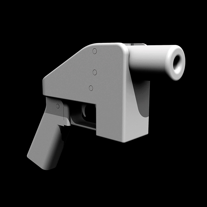 "Rendering of 3-D-printable ""Liberator"" single-shot firearm. Photo: Defense Distributed/Wikicommons."