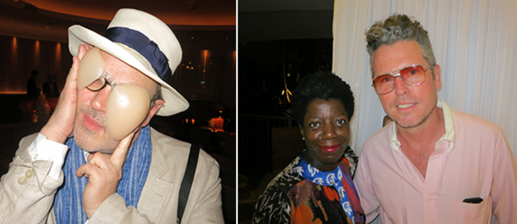 Left: Photographer Todd Eberle. Right: Studio Museum in Harlem director Thelma Golden and dealer Bill Powers.
