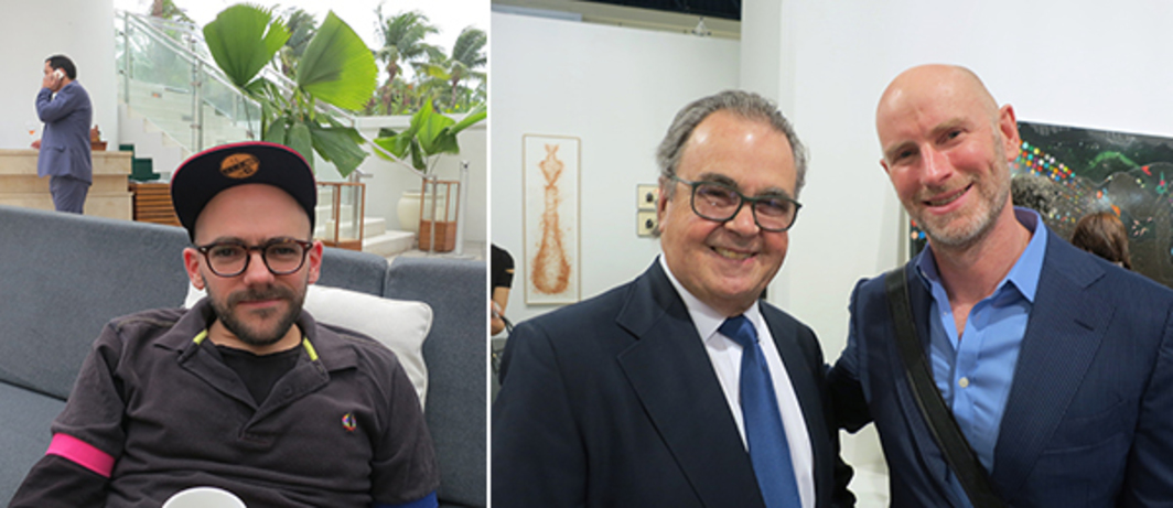 Left: Artist Ryan Gander. Right: Collector Carlos de la Cruz and Public Art Fund director Nicholas Baume.