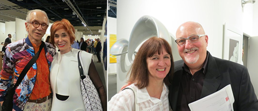 Left: Collectors Norman and Norah Stone. Right: ADAA deputy director Patty Brundage and dealer Sean Kelly.