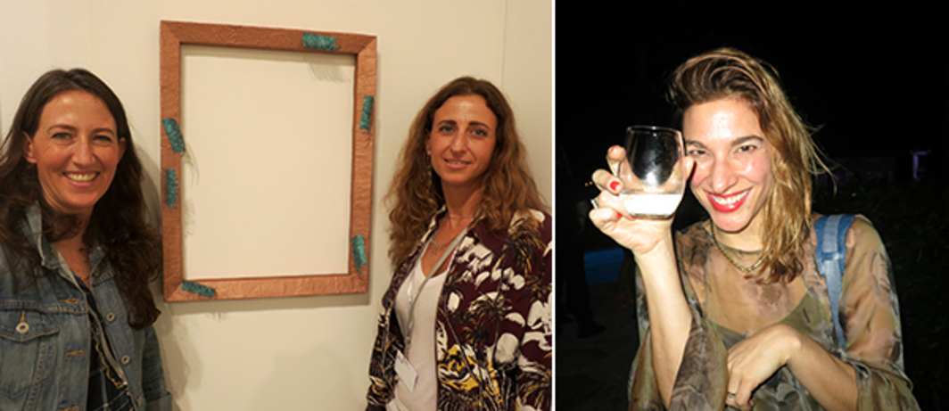 Left: Dealers Chiara Repetto Kreps and Francesca Kaufmann. Right: Dealer Christine Messineo.