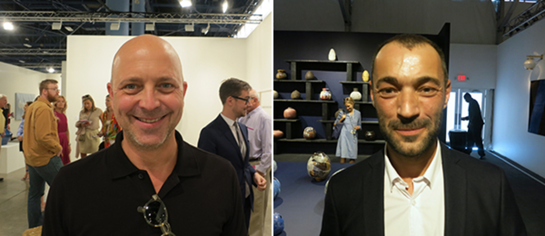 Left: Curator Jeffrey Grove. Right: Dealer Jérôme Poggi.