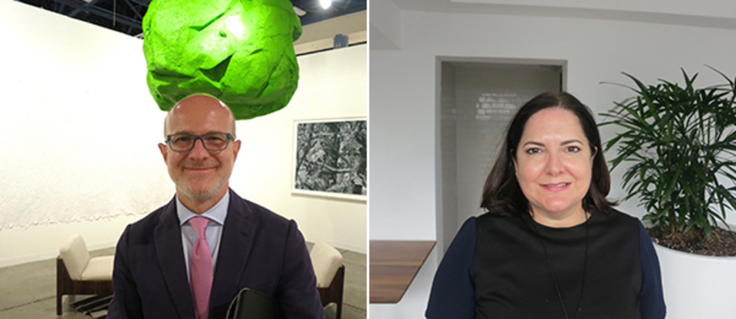 Left: Dealer Stephen Friedman. Right: Bass Museum director Silvia Cubiña.