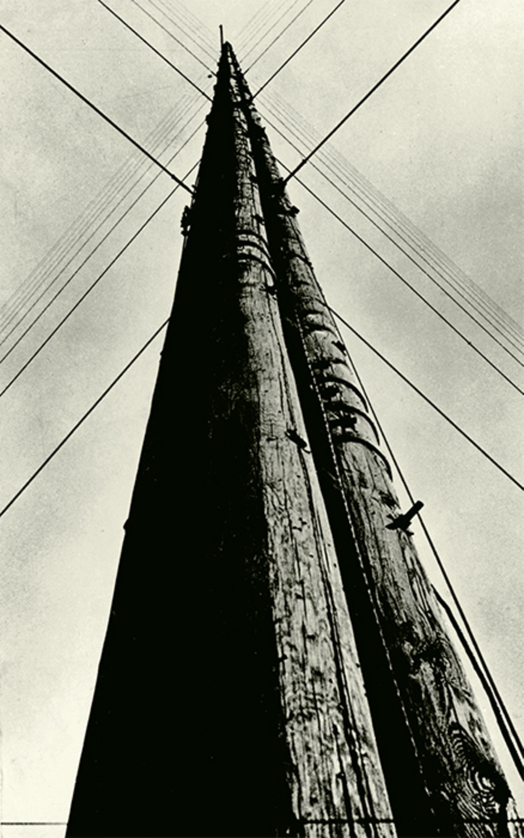 "Aleksandr Rodchenko, Radio Station Tower, 1929, gelatin silver print, 8 7/8 × 5 5/8"". From ""Adventures of the Black Square: Abstract Art and Society 1915–2015."" © Estate of Alexander Rodchenko/RAO, Moscow/Licensed by VAGA, New York, NY."