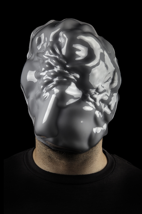 Zach Blas, Facial Weaponization Suite: Mask, May 19, 2014, photograph of plastic mask, dimensions variable.