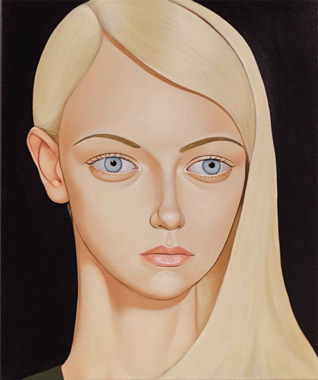 "Peter Stichbury, Barbara Robbins, Westall High, 2014, oil on linen, 23 1/2 × 19 3/4""."