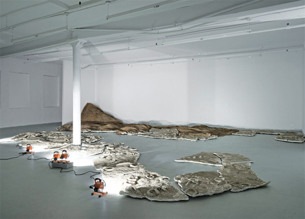 Gillian Jagger, And the Horses Ran, 2009, latex, plaster, sand, dimensions variable.
