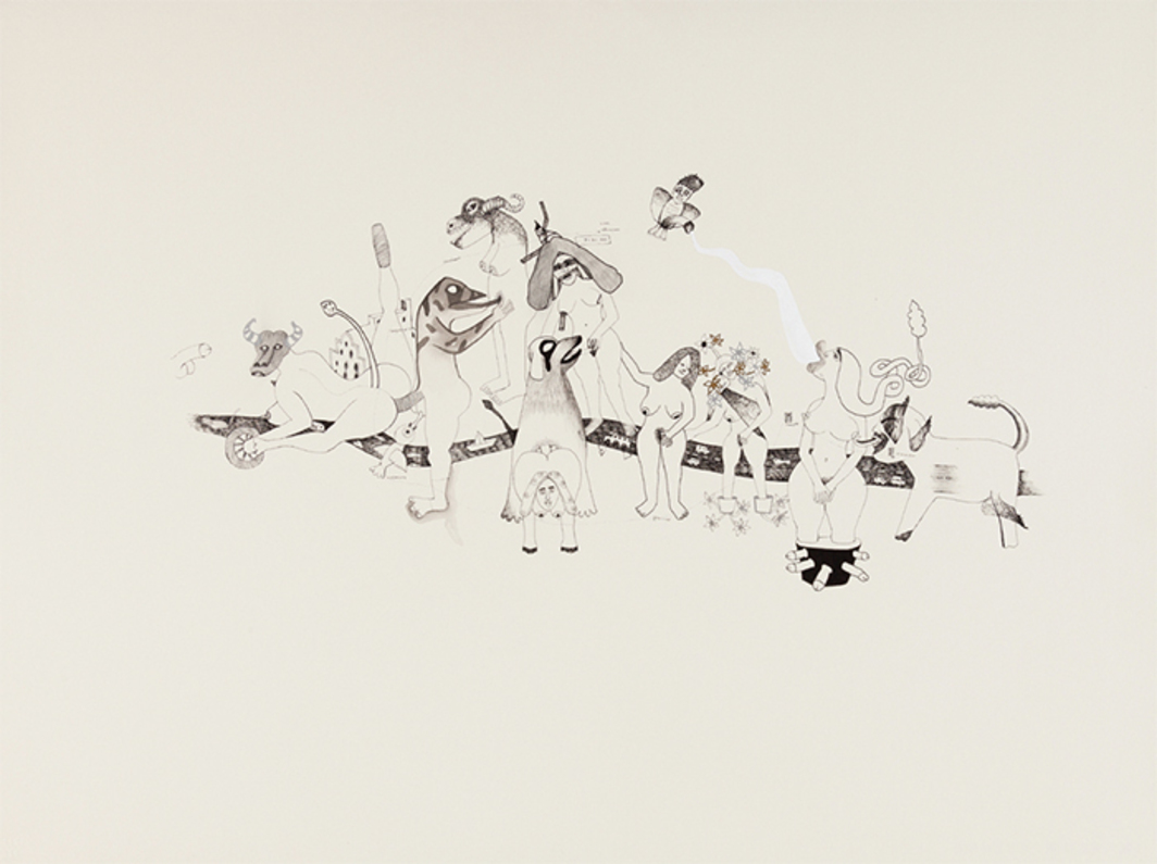 "Gagan Singh, Untitled, 2010, ink on paper, 21 1/2 × 29 1/2""."
