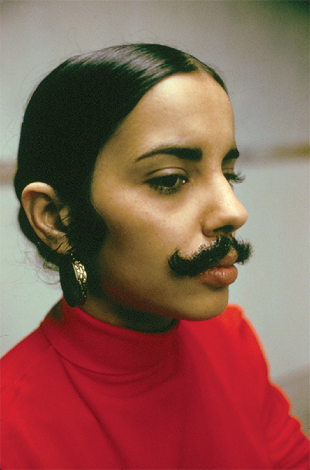 "Ana Mendieta, Untitled (Facial Hair Transplants) (detail), 1972, seven C-prints, each 16 × 20"". From the suite Untitled (Facial Hair Transplants), 1972. From ""artevida,"" 2014. © The Estate of Ana Mendieta Collection, L.L.C."