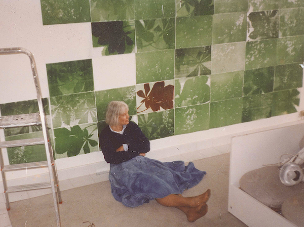 Pati Hill at Galerie Toner, Sens, France, circa 1999. Photo: Paul Bianchini.