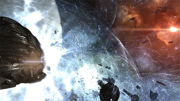 Screenshot of the Bloodbath of B-R5RB in EVE Online, January 27–28, 2014.