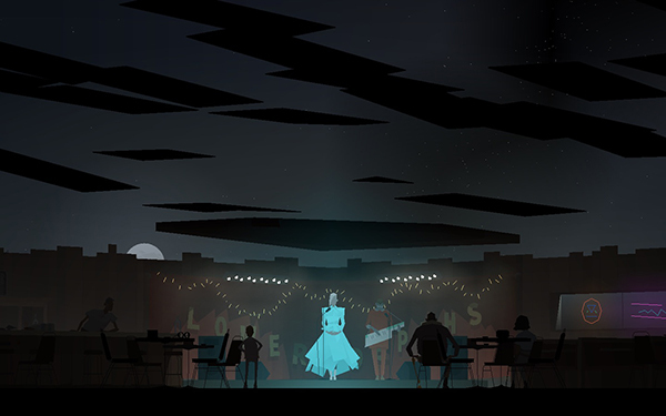 Screenshot of Kentucky Route Zero (Cardboard Computer, 2013–2014).