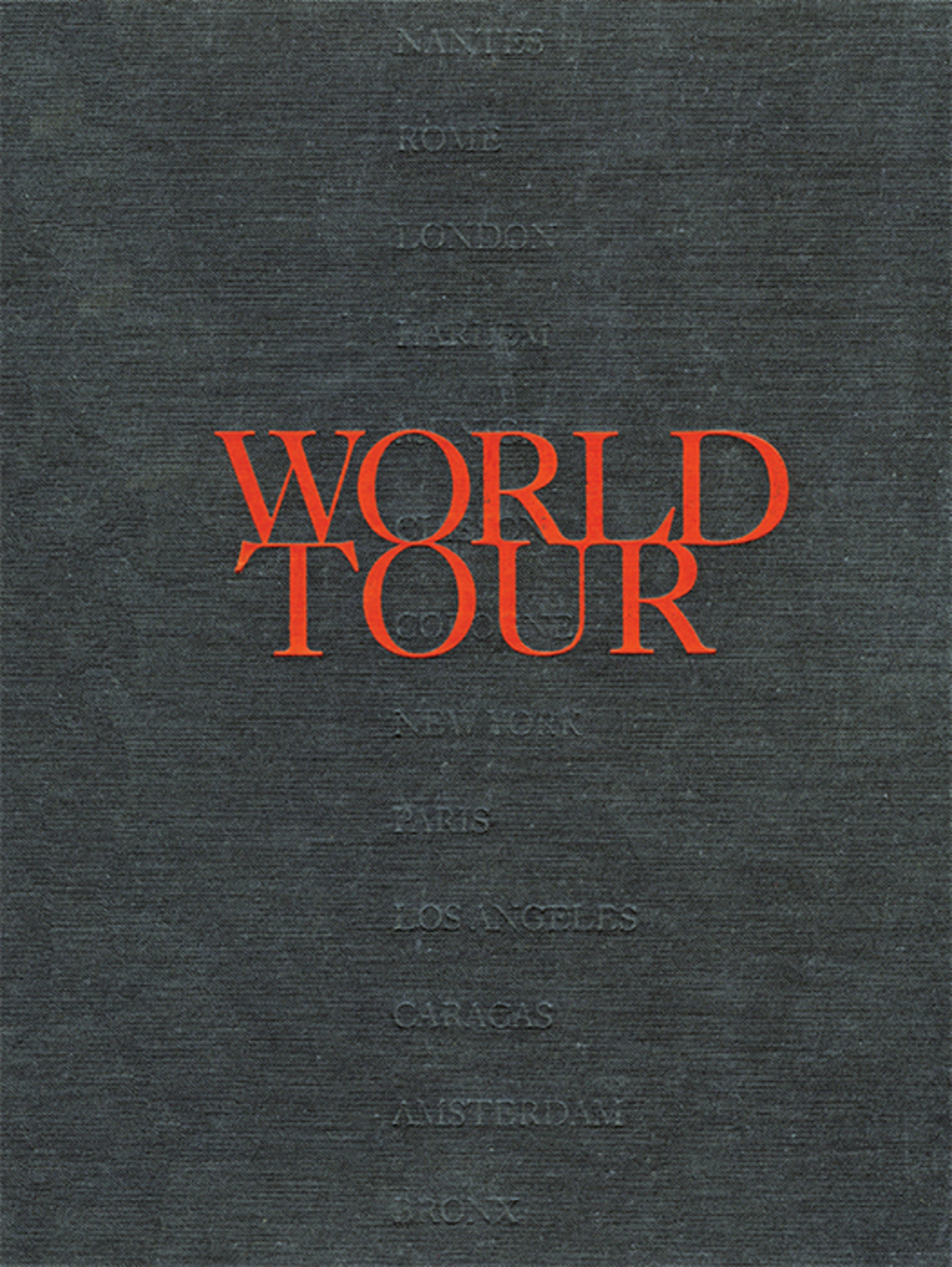 Cover of Renée Green's World Tour (Museum of Contemporary Art, Los Angeles, 1993).