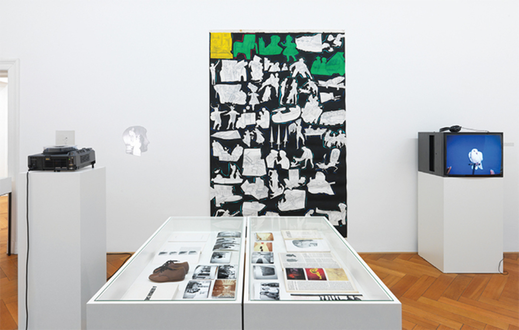 "View of ""Pictures, Before and After – An Exhibition for Douglas Crimp,"" 2014."