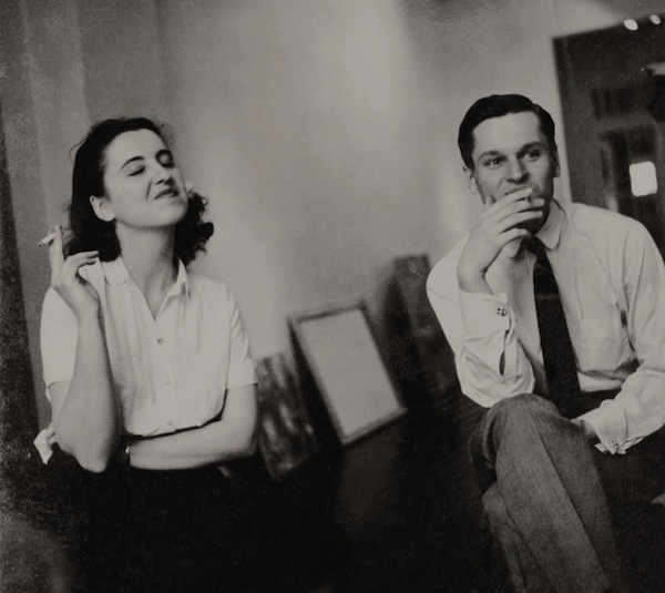 Jane Freilicher and John Ashbery at Tibor de Nagy Gallery, 1952. Photo: Walter Silver.