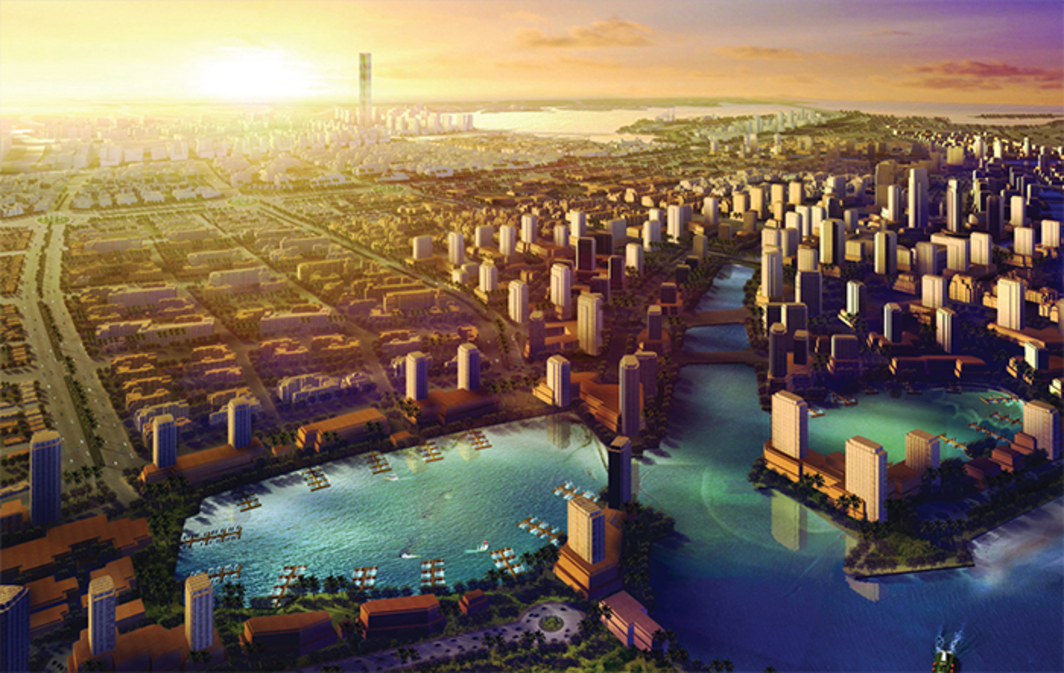 Promotional rendering for King Abdullah Economic City, Saudi Arabia, 2014.