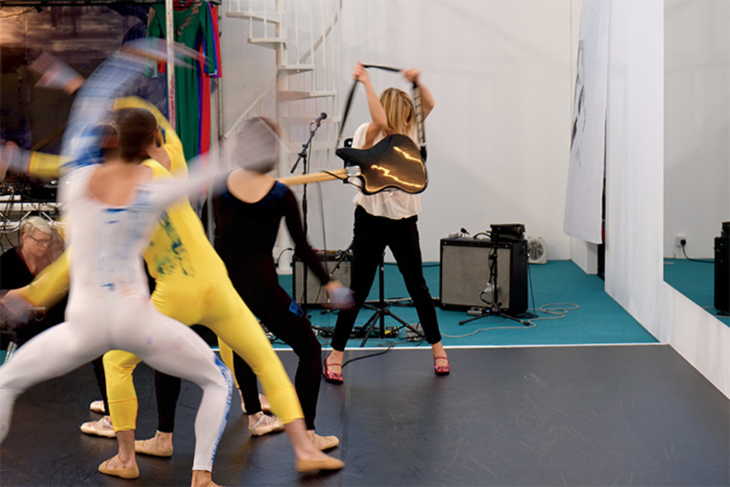 Nick Mauss, 1NVERS1ONS, 2014. Performance view, Frieze Projects, Frieze London, October 16, 2014. Kim Gordon (center) with dancers from the Northern Ballet.