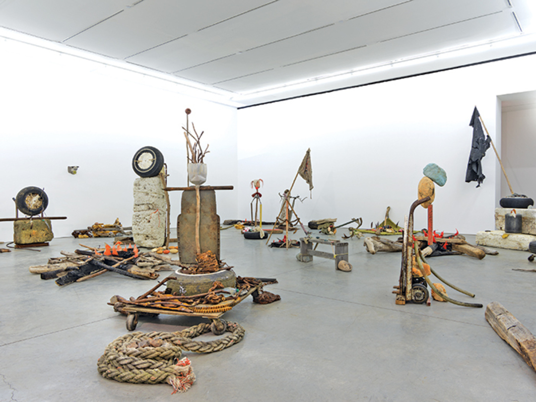 Mike Nelson, Gang of Seven, 2013, mixed media. Installation view.