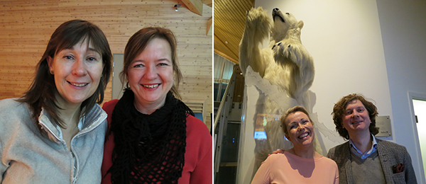 Left: Katya Garcia-Anton, director of OCA, and Tone Winje, director of Arts Festival of North Norway. Right: Mayor Christin Kristoffersen and Knut Ljøgodt, director of the North Norwegian Art Museum.