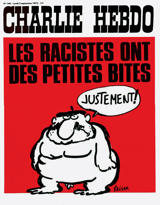 Cover of Charlie Hebdo, September 3, 1973. Jean-Marc Reiser.