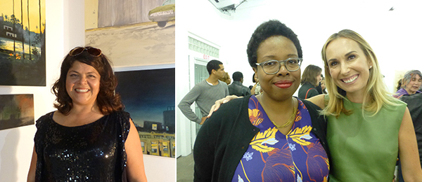 Left: A+P Artist in Residence Sandy Rodriguez. Right: Curators Jamillah James and Allison Agsten.