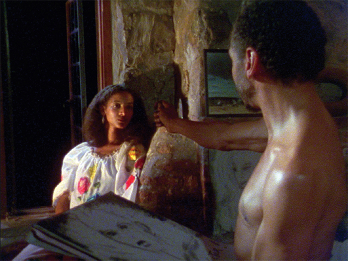 *Kathleen Collins, _Losing Ground_, 1982*, 35 mm, color, sound, 86 minutes. Sara (Seret Scott) and Victor (Bill Gunn).