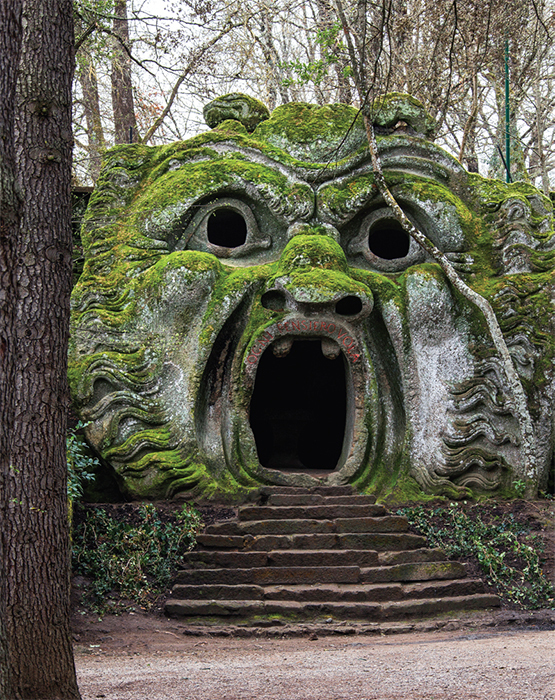 *Orcus Mouth, Sacro Bosco, Bomarzo, Italy, 2013.* Photo: Aurelio Candido/Flickr.
