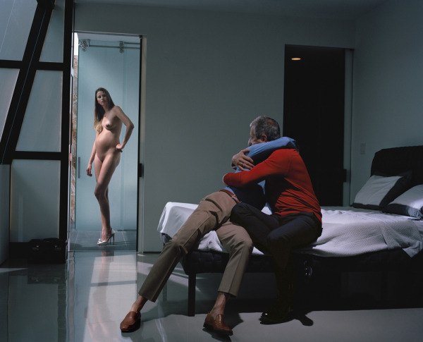 "Philip-Lorca diCorcia,  Cain and Abel, 2013, ink-jet print, 39 1/2 x 49""."