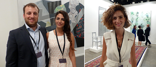 Left: Dealers Ead Samawi and Loulua Zawawi. Right: Dealer Yasmin Atassi.