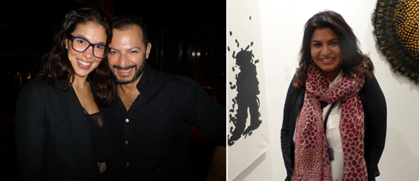 Left: Dealers Nadine Knotzer and Kourosh Nouri. Right: Dealer Caline Chagoury.