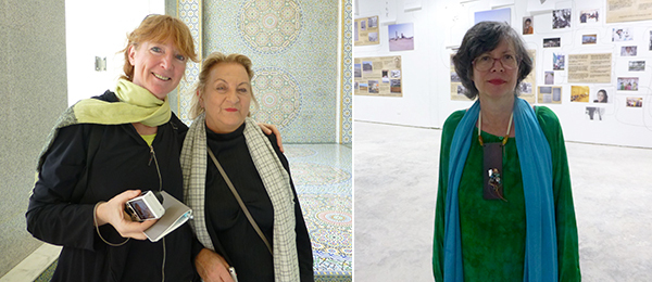 Left: Critic Sabine Vogel with dealer Ursula Krinzinger. Right: Artist Maria Thereza Alves.